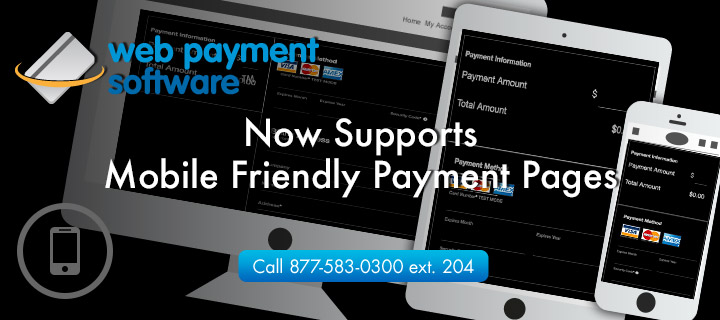 Mobile friendly online payment pages